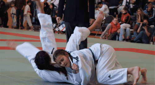 Junior Judoka Throwing for Ippon